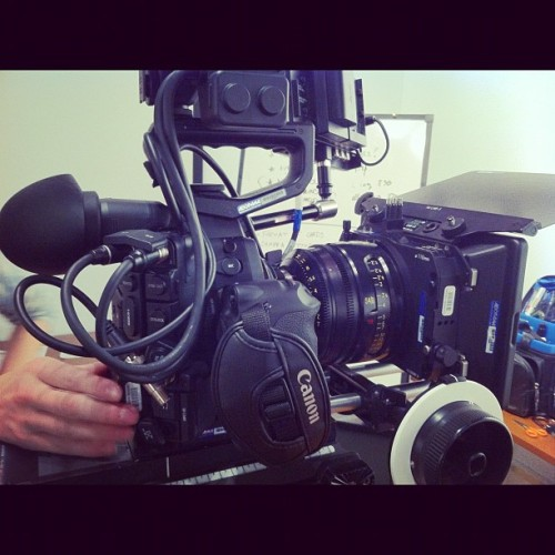Canon C300 with Cooke S4/i 18mm (Taken with instagram)