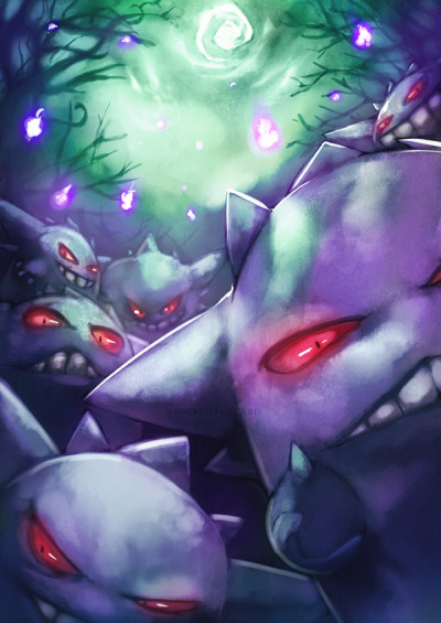 Gengar. by Wicked Alucard. (via dotcore)