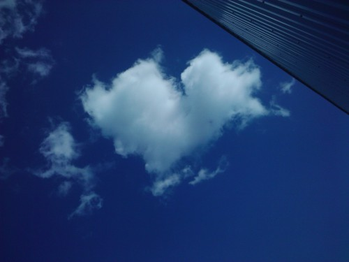heart clouds follow me <3333