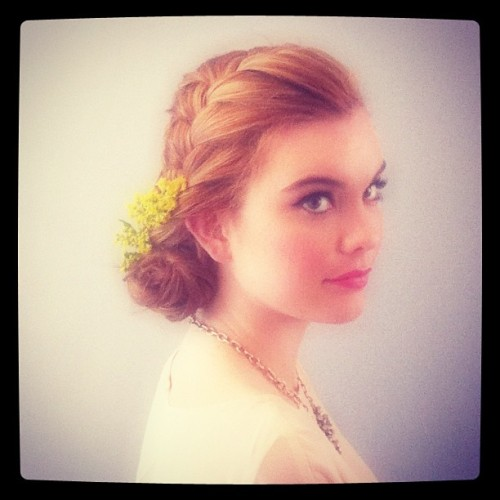 Cutie bailey rocking a modern braid! Www.benylabrides.com! @janmiran @its _dianeee (Taken with instagram)