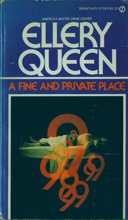 The 35th and last Ellery Queen novel, A FINE AND PRIVATE PLACE, was published in 1971. There would be other novels under the Queen name, but none written by the cousins or with their input.