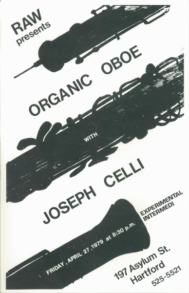 "Organic Oboe Joseph Celli Friday, April 27, 1979 ""Experimental Intermedi"" 11 x 17"""