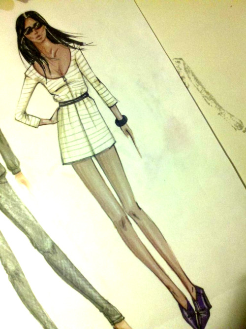 A fashion sketch of Moi by Michael Robinson aka @wheresmydrink Such love for this!