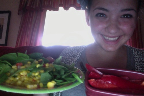 added a bell pepper to lunch!