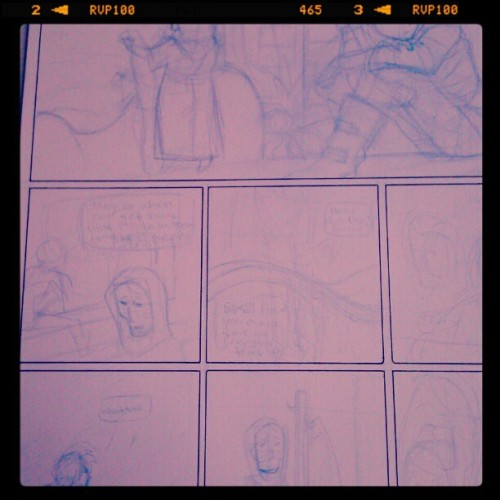 penciling Thursday's page  (Taken with instagram)