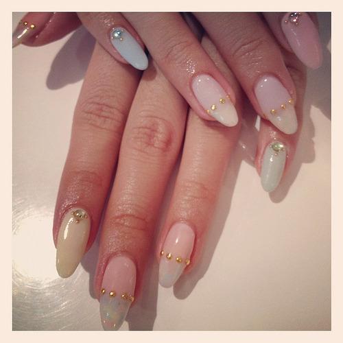 Sherbet Gel Garden. sherbet pastel gel nail art