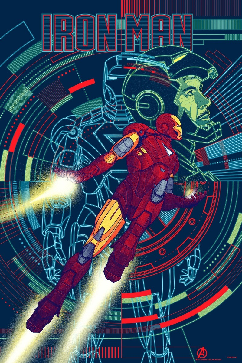 Here's MONDO's amazing Iron Man poster, as part of their on going Avengers series. This one's done by the great Kevin Tong.