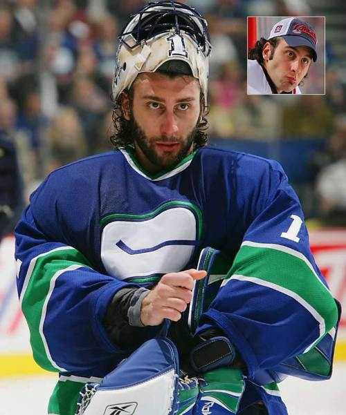 """Living and playing in Vancouver meant a constant deluge of media coverage. TV, print, radio, blogs — every arm of the media Leviathan had Luongo in their clutches at one point. It's difficult for any Canuck player to escape the gaze of the media, but for a star player it's an impossibility."" The Province's Legion of Blog's fictional responses to ""Luongo's concerns"" including: the media, playing time, fan recognition and team system. Here's how the teams would handle the blood-thirsty media: New York Islanders – We would deflect the attention of the media from Roberto by pointing out that  our ""capologist"" has extrapolated that there are over 546.789 combinations of various body parts and kitchen utensils that Rick DiPietro has yet to injure himself with.  Tampa"