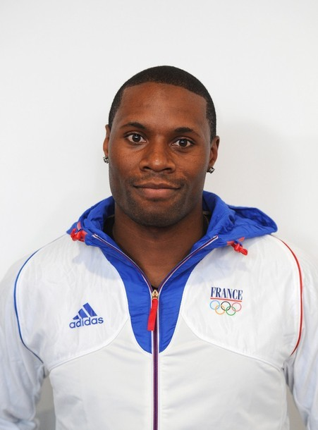 French Track cyclist Gregory Bauge poses 100-day countdown to the London 2012 Olympic Games at the CNOSF located at the Maison du Sport Francais in Paris on April 18, 2012. (via Photo from Getty Images)