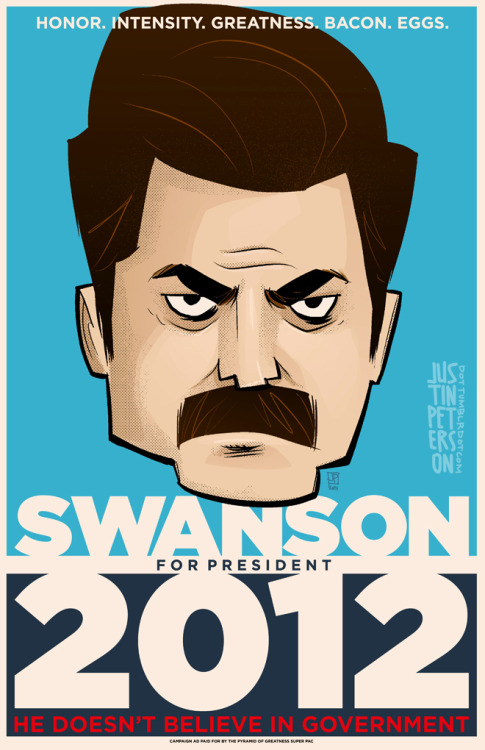 Swanson for President print! 11 x 17! Available at the Adventuring Company table (L-17) at MoCCA Fest, this weekend, April 28 + 29, in NYC.