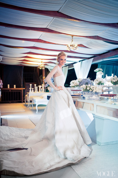 vogue:  Model Caroline Trentini Photographed by Thiago Bellini in a Wedding Dress Designed by Olivier TheyskensGet an inside look at Caroline's wedding on Vogue.com.