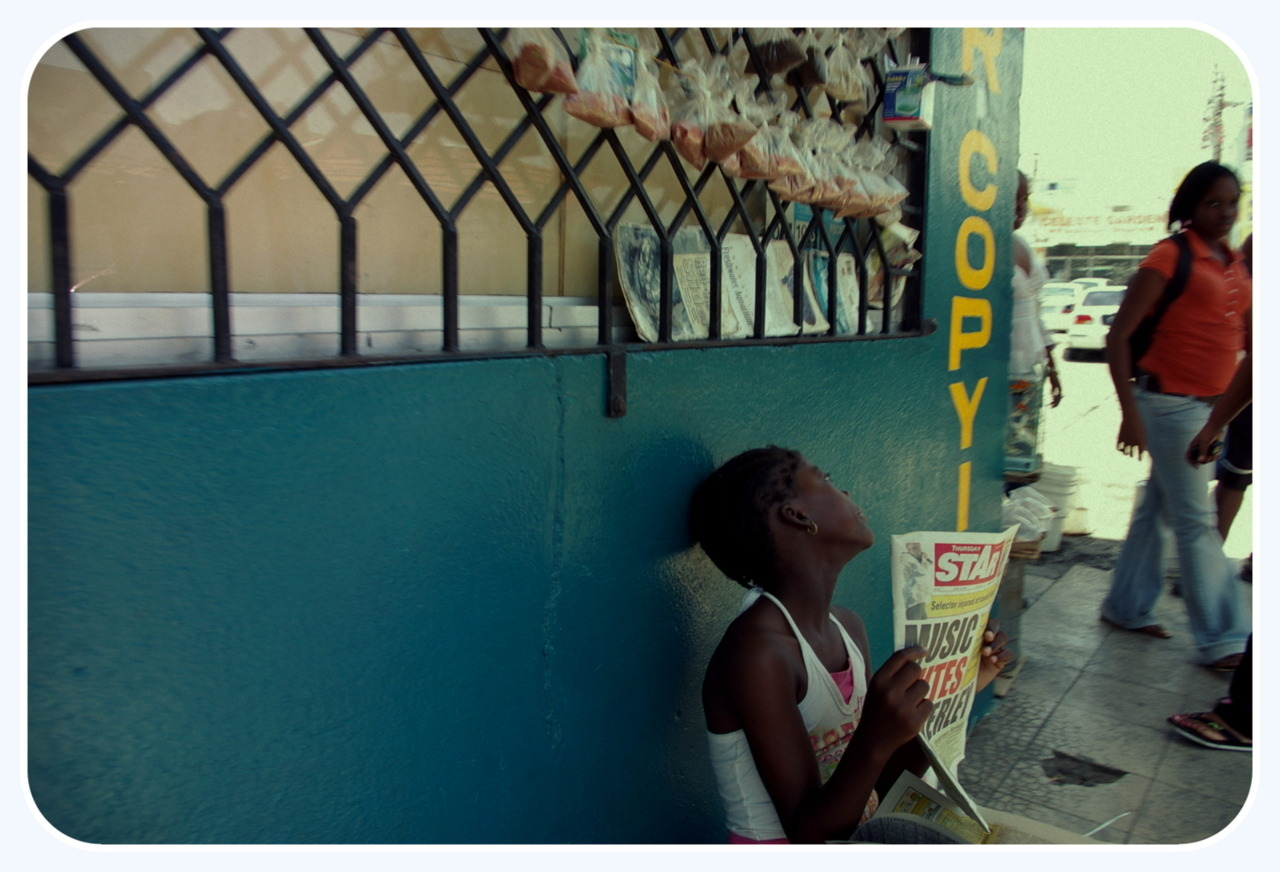 (c)kwesi abbensetts Selling News by a little girl Jamaica