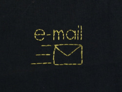 DAY ONE HUNDRED AND EIGHTe-mail noun 1. A system for sending and receiving messages electronically over a computer network, as between personal computers.  <3 strands on cotton>
