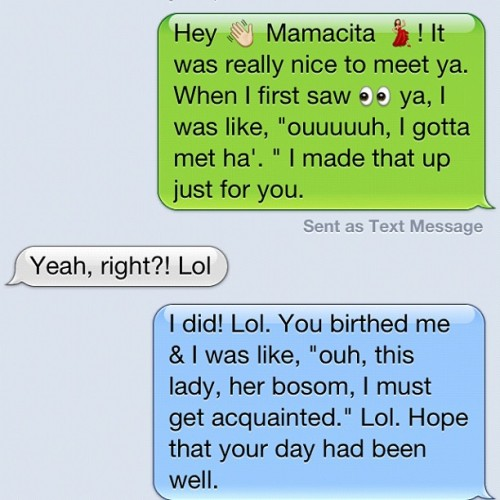 The random sh💩t that I text my ma. (Taken with instagram)