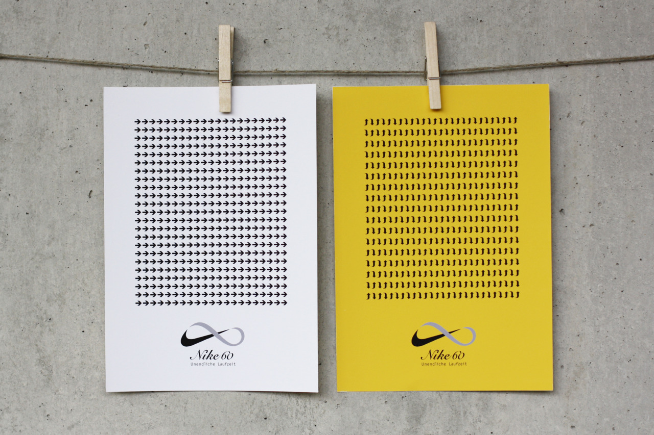 "Fictive Campaign for Nike, ""Unendliche Laufzeit"" (""Infinite Runtime""), for age group 60+"