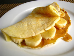 Peanut Butter, Honey, and Banana Crêpes