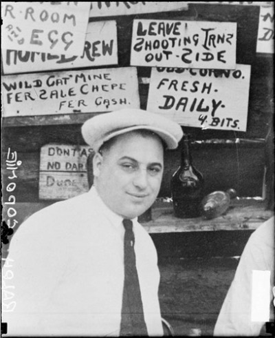 "Ralph ""Ralphie"" ""Bottles"" Capon(i)e, 1928, Chicago. Ralph was Al's older brother and also a member of the Chicago Outfit. Al was Public Enemy #1, while Ralph was just #3… http://en.wikipedia.org/wiki/Ralph_Capone"