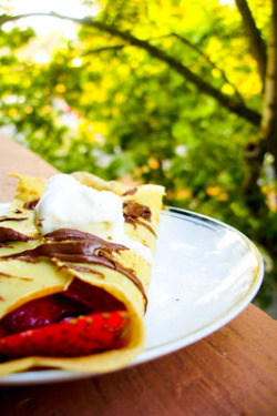 Crêpes with Strawberries and Nutella