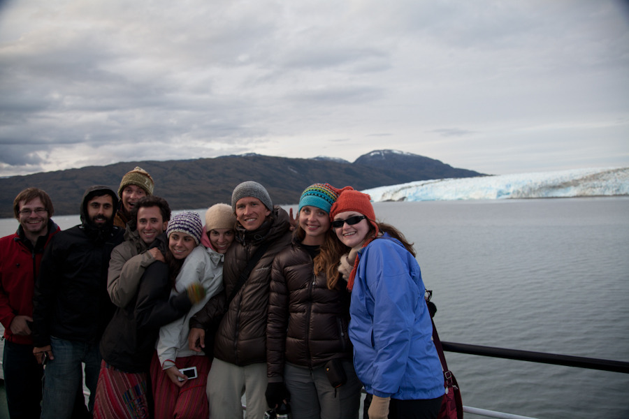 Cruisin' to Patagonia             Navimag Ferries is a great way to travel between Puerto Montt and Puerto Natales, the town just outside Torres del Paine National Park.  This trip allows you to bypass a long bus ride and two border crossings via an adventure at sea.  It's a cargo ship that also transports passengers, so it's not really a cruise, but almost.  The accommodations were comfortable, the food was pretty tasty, the staff was friendly, and the boat's MC provided hours of entertainment with his spunky attitude and educational lectures regarding glaciers, Patagonia, and the fauna of Antarctica.  Also, unlike a cruise, the captain allowed passengers a free walkthrough of the bridge.  Matt did his thang on the internet, researching diligently, until he found us a great deal through www.mercandolibre.cl and www.groupon.cl.  This gave us access to a room with a view.  Otherwise, the prices for the bunk beds are reasonably affordable (considering the time/board/food) and the ride is definitely worth the money, especially if you are fortunate enough to have decent weather.  Overall, it was a fantastic voyage.  The captain sailed us through various canals, gulfs, channels, and straights, which exposed us to spectacular views of Chile's fjords.  We came up close to the face of South America's largest glacier, Pío XI at snset and ejoyed great views and clear skies. The following day we sailed by the Capitán Leonidas shipwreck located in Canal Messier.  We were also fortunate to catch sightings of a great variety of flora and fauna (e.g. lengua and cypress trees, humpback whales, dolphins, penguins, sea lions, etc.).  Finally, one of the best parts of the Navimag trip was meeting interesting travelers from all over the world, like Holland, England, Germany, Chile, the Basque, and Turkey, to name a few.  Your days are spent lounging on the upper decks, conversing with fellow travelers and soaking in the sights.  We were fortunate to enjoy the journey with two great roommates, a couple from Ireland.  Everyone was so friendly, that it made the final night playing BINGO and dancing to Reggaeton music a night to remember.  Overall, Navimag is highly recommended!