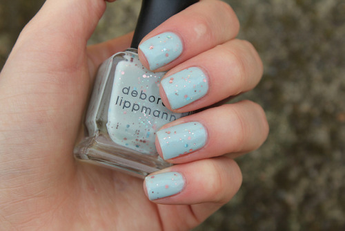 Glitter in the Air on Flickr.Loooove this.  This is over Barry M Blue Moon. www.coewlesspolish.wordpress.com