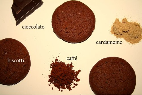 Chocolate, coffee and cardamom cookies. Sooo good.