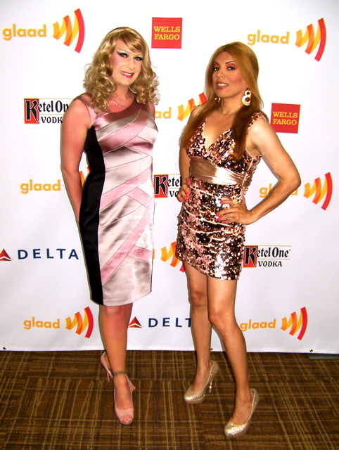 SassySays.com Sassy & Samara Riviera on the red carpet at The Los Angeles #GlaadAwards April 21, 2012