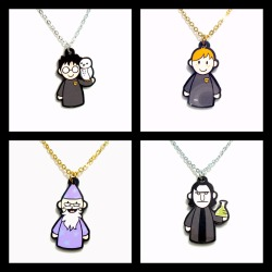 emmyc:  lealooboo:  Potter Puppet Pals necklaces back in stock for a limited time. Silver tone chains only. http://www.etsy.com/shop/lealoos?section_id=10206605  woohoo!  Oh NOSTALGIA.