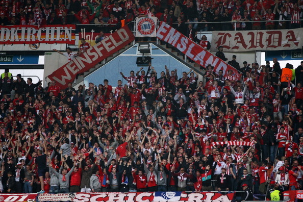 Bayern fans in Madrid!!