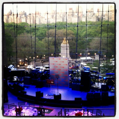 Time 100 stage and view from the Allen Room in Jazz @ Lincoln Center.