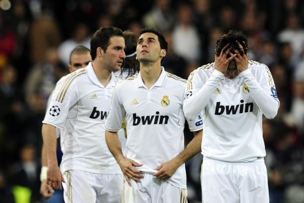 Hurts so much. CL semi-final 2nd leg Real Madrid vs. Bayern München, 25.04.2012(via Photo from Getty Images)
