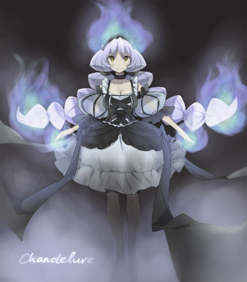 Chandelure gijinka by dummy04 release date : march 13 , 2011 Title :Chanderella original description : As someone suggested to try drawing a gijinka, I ended drawing Chandelure, since it's one of my favourite pokemons in Gen V.