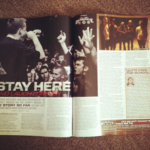 @thestorysofarca's feature in the new issue of Alt. Press. Proud of these guys. (Taken with instagram)