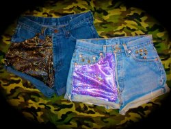 'Galaxy' half patch shorts we're working on atm, Reblog if you like!!