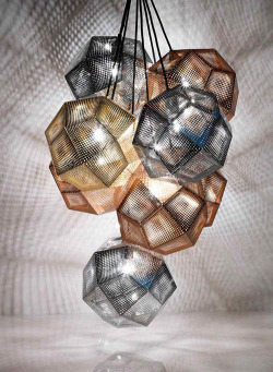 micasaessucasa:  Copper and Stainless Steel Shade Pendants by Tom Dixon
