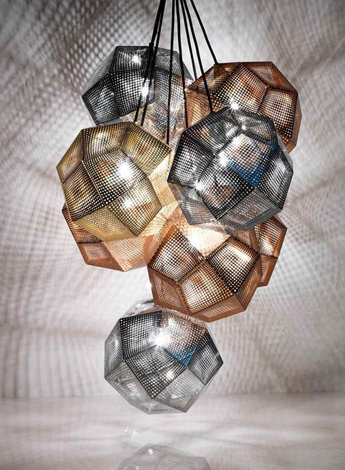 Copper and Stainless Steel Shade Pendants by Tom Dixon