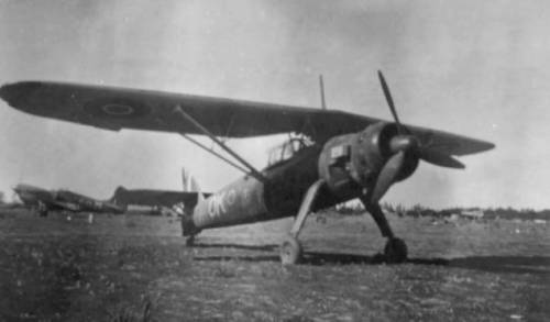 Henschel Hs-126 Recon aircraft captured and in service with the RAAF Desert Air Force World War 2