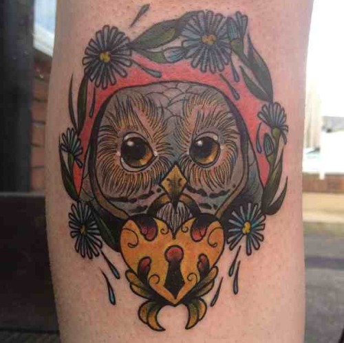 fuckyeahtattoos:  1 of 2 new tattoos from the extremely talented lovely amy savage @ jayne doe, londonhis name is winston and i love him!  www.mermaidcutie.tumblr.com