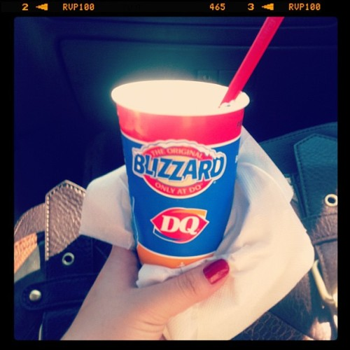 Got my #Oreo #blizzard from #DQ  #yummy  (Taken with instagram)