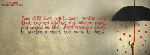 Rain Love Poem Facebook Cover