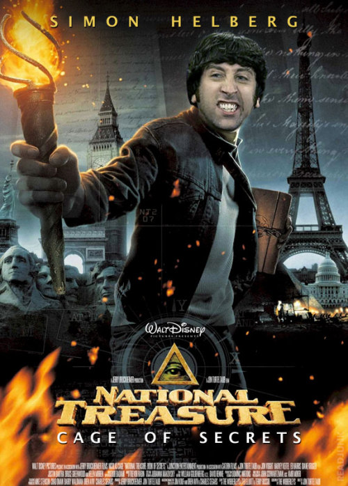 Simon Helberg starring in National Treasure 2: Cage of Secrets