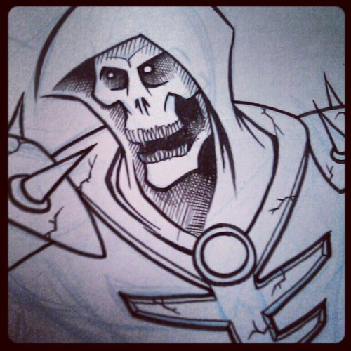 Skeletor WIP (Taken with instagram)