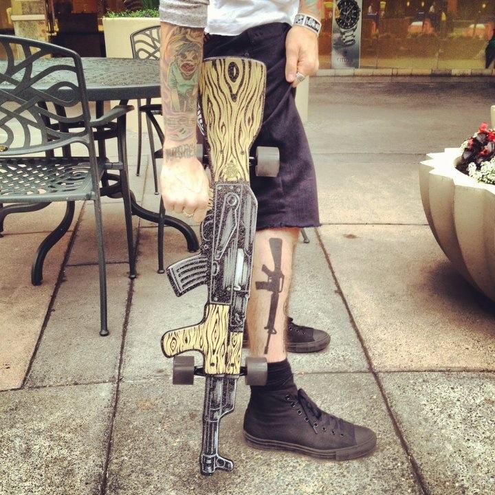 Kells' new skateboard