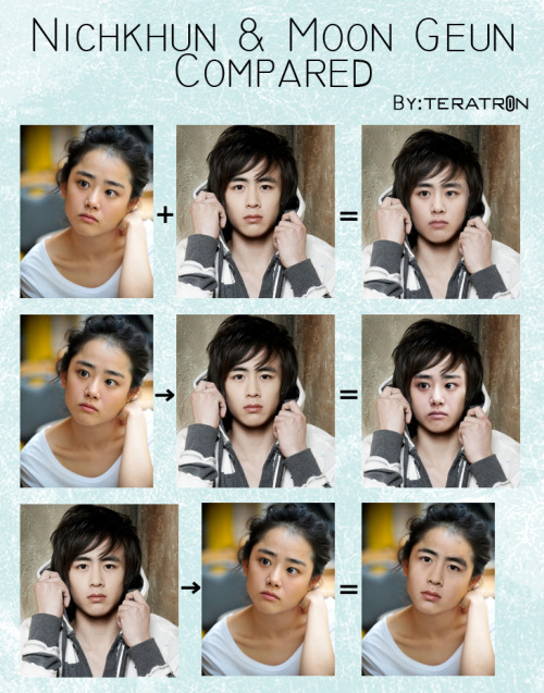 Nichkhun and Moon Geun Young look very similar in my opinion.