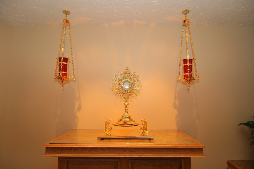 "verbumcarofactumest:  ""When I am before the Blessed Sacrament I feel such a lively faith that I can't describe it. Christ in the Eucharist is almost tangible to me…When it is time for me to leave, I have to tear myself away from His sacred presence.""—St. Anthony of Claret  My sentiments exactly! Thanks for sharing…:)"