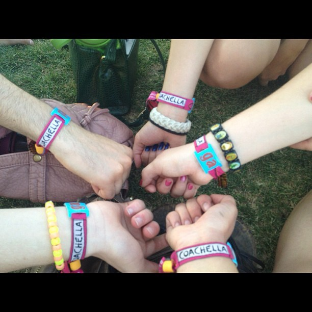 Haha we had too @daanaenae @anobelkh @spliffedapart and roach #coachella #festival #wristband #ticket #day3 (Taken with instagram)