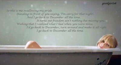 Back to december ~ Taylor Swift