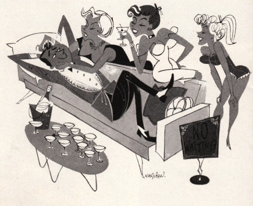 The Work of Jerry Warshaw, Cartoonist  HERE on Vintage Sleaze the Blog