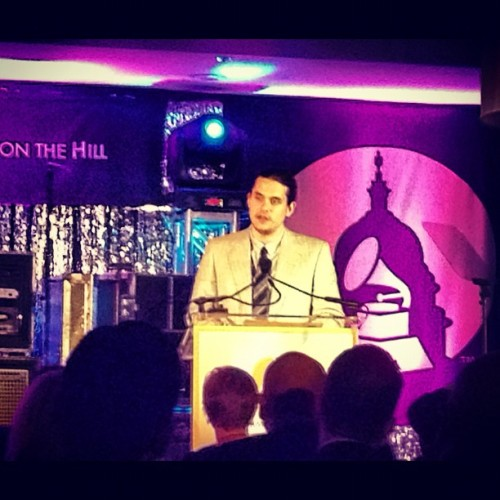 "johnmayerpicspam:  ""I rarely use a teleprompter. Tonight's not the night for making ups""   No shame in using the tools, not all xo!"