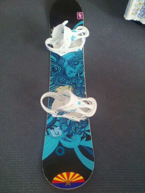 Put a sweet Arizona state flag sticker on my snowboard yesterday. I love it. Currently trying to get my hands on a sticker I saw at Amoeba like this: http://www.heartsticker.com/state/California, except it was white with a red heart in the centre, not the top. Funny that I rep all these American places on my board (I have Vail and Beaver Creek stickers on there too), but I don't have anything referencing my actual home - New Zealand. Oh well.