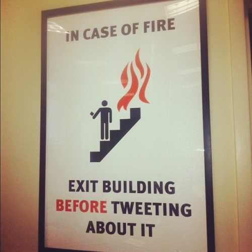 goinsideout:  In case if fire (Taken with instagram) Rocketspace, San Francisco